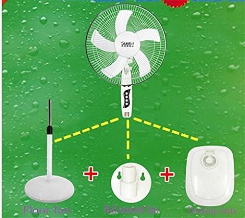 Natood ventilateurs de 16 pouces murales Ventilateur de plancher Ventilateurs de bureau Triple play Mute Shaking his head vertical Home 55W