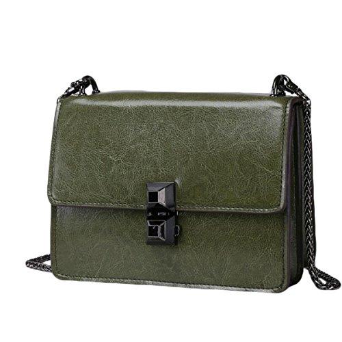 Bag Antifurto Ms. Sacchetto Di Cuoio Di Modo Avanguardia Pacchetto Tracolla Borsa Green