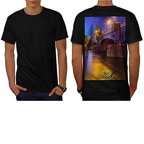 Australie pont Art Melbourne Homme NOUVEAU Noir XXL T-shirt Reverse | Wellcoda