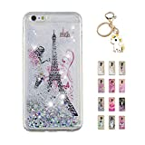 Kawaii-Shop Coque iPhone 5 5S Se Glitter Liquide, Cute Tour Eiffel TPU Silicone Case...
