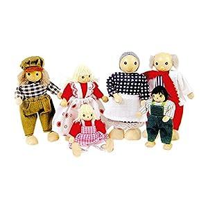Goki Toys Pure So204 - Familia de Muñecos con Extremidades Articuladas