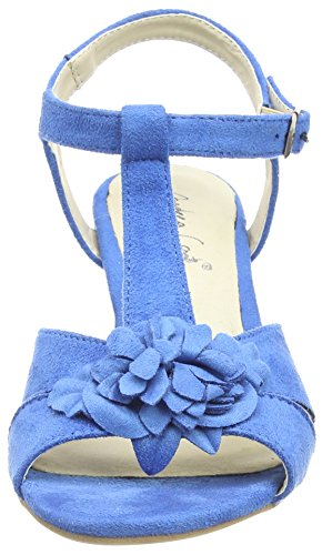 Andrea Conti 1001558, Sandales Bout ouvert femme Bleu (Blau 058)