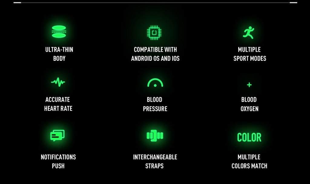 Naack Reloj Inteligente Pulsera Monitor de frecuencia cardíaca smartwatch Monitor De Ritmo Cardíaco Mujeres Hombres… 8