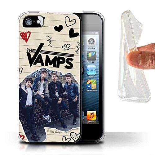 Officiel The Vamps Coque / Etui Gel TPU pour Apple iPhone SE / Pack 5Pcs Design / The Vamps Livre Doodle Collection Stylo Noir