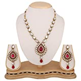 #5: Dancing Girl Bridal Wedding Rani Pink Metal Alloy Jewellery Set With Necklace And Earring For Women