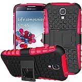Samsung Galaxy S4 Outdoor Hülle Case in Pink Extra Schutz, Robuste Galaxy S4 Schutzhülle Handyhülle Cover Silikonhülle Rückschale