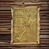 Cczxfcc Nuova Zelanda Mysterious Old Map Poster Restoring Ancient Ways Mappa Kraft Paper Adornment Picture Poster Wall Sticker