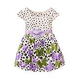 Patgoal - Prendisole da bambina, tutù, stampato con farfalle Purple 3-4 Anni Vecchio