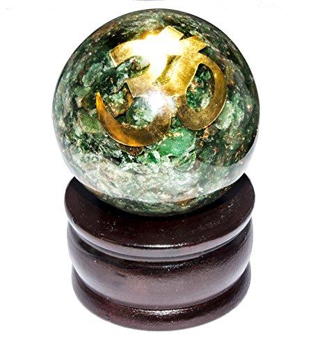 FASHIONZAADI Orgon-Kugel mit Om, Größe 3,8-5,1 cm, für die Heilung von Aura zur Reinigung von Vastu Peace of Mind Chakra Balancing