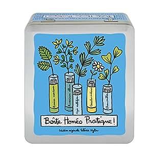 Boîte de Rangement à Tubes Homéopathie HOMEO En Métal Bleu - DLP Derrière La Porte