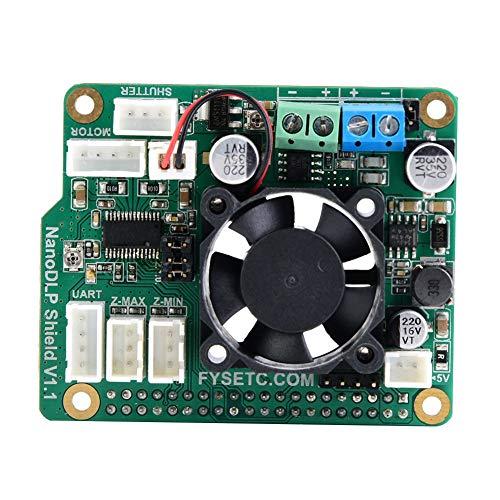 Scheda di espansione Liukouu Shield V1.1 con DRV8825 per stampanti 3D Raspberry Pi 3B e fotopolimerizzate