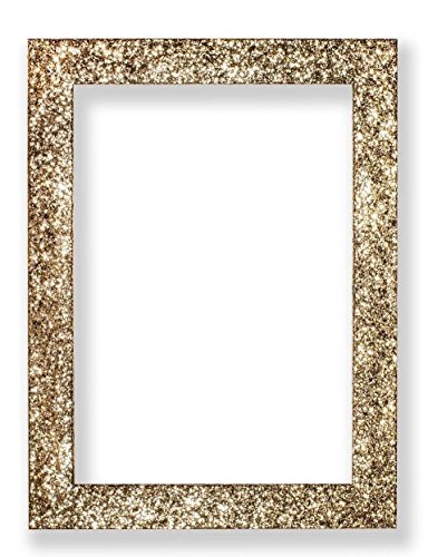 ange Bilderrahmen funkelndem Glitzer Effekt Bild/Foto/Poster Rahmen mit Kunststoff Glas-glitterng-px-rl-glsparent, Gold, 6