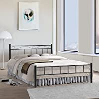 FurnitureKraft Queen Size Bed (Glossy Finish, Black)