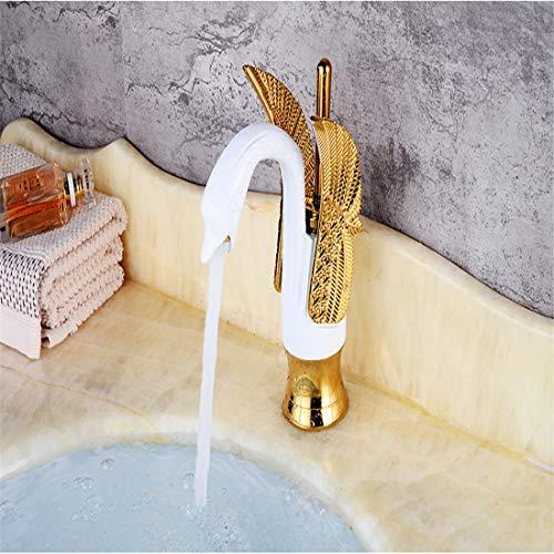 Wasserhahn Küche Bad Garten Hotel Luxus Kupfer Bad Mischer Weiß & Gold Swan Wasserhahn Waschbecken Wasserhahn Mischer Wasserhähne Heiß Kalt Becken Wasserhähne Ctzl6255 - Swan Küche