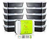 Chef's Star 1 Compartment Reusable Food Storage Containers with Lids - 33 oz - BPA Free - Microwave Safe - Dishwasher Safe - Stackable - 10 Pack