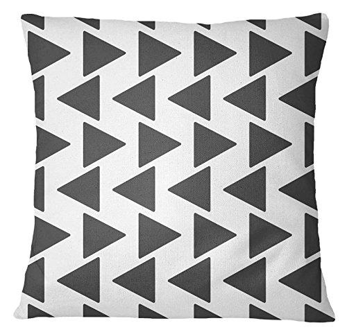 Ikat Kissen-abdeckung (S4Sassy Indian Home Decor Ikat Print Wurf Sofa-Kissen-Abdeckung Bohemian Grau Kissenbezug-20 x 20 Inches)