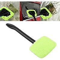 Sanzhileg Limpiador fácil de plástico portátil Limpiador fácil de Microfibra Ventana Limpia en su Coche o Lavable en casa Fácil Brillo fácil a Mano