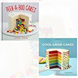 Peek-a-boo Cakes and Cool Layer Cakes 2 Books Bundle Collection (Peek-a-boo Cakes: 28 Fun Cakes With A Surprise Inside![Hardcover], Cool Layer Cakes: 50 Delicious and Amazing Layer Cakes to Bake and Decorate)