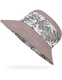 AHAHA Berretto da Spiaggia Pieghevole Cappello Estivo da Donna con Cappello  da Sole in Cotone f3b305391ebb