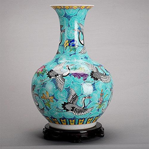 Globular Jar (All Décor Chinesische Porzellan Vase Blume Home Office Decor Handgefertigt und Handbemalt Porzellan mit Dragon Muster Globular Himmelblau)