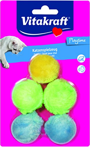 Vitakraft Hundespielzeug Pack 5Bälle Plüschtiere für Katzen