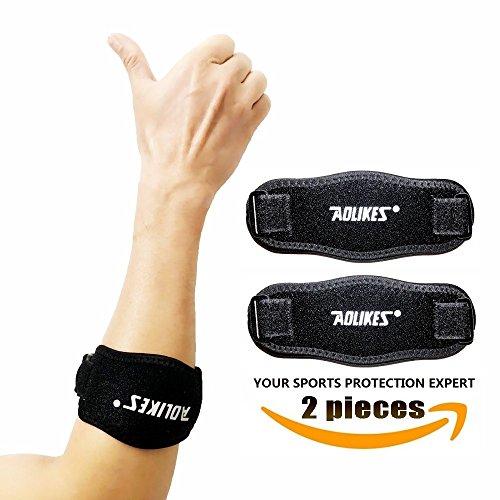 Best Tennis Ellenbogen-Bandage für Sehnenentzündungen Arm Brace Kompression Pad Bändern Therapeutische Unterarm Band Stoßdämpfer Handgelenk Instrument Schmerzlinderung Verstellbarer verhindert Ellenbogen Unterstützung für Sehnenentzündungen (2Stück)