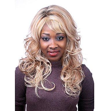 OOFAY JF ® europe et aux États-Unis le nouveau polyester teint doré perruque de cheveux bouclés 10 pouces , 28 inch