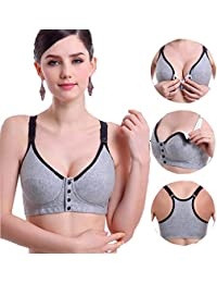 f8b5ae8db Sujetador Sin Costuras para Esencial De Mujer Bralette Enfermería Sin Aros  Transpirable para La Lactancia Maternidad Ropa Interior…
