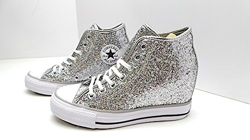 CONVERSE ALL STAR - SNEAKERS da DONNA modello 552698C 40.5 ARGENTO