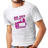 lepni.me T-Shirt pour Hommes Frais de bière - Chemises d'alcool, vêtements de Bar, pour la fête (XXXX-Large Blanc Magenta)