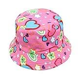 Newin Star Kindermütze, Unisex, für Jungen und Mädchen, Camouflage-Blumen, bunt, Fischer-Stil, Sommer, Sonne, Outdoor, Strandhut (Hot Pink)