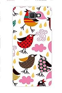 TEMPER Bird & Design Pattern 3D Back Cover for Samsung Galaxy J7 Prime