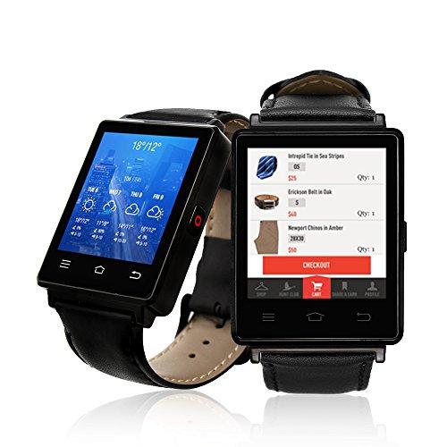 Indigi® Professional 3G Smartwatch Telefon freigeschaltet (GSM) Android 5.1WiFi + GPS + Herzfrequenz Sensor Smart Phone Apple Freigeschaltet