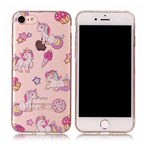 Yaking® Apple iPhone 7 Coque Silicone TPU Case Cover Gel Étui Housse pour Apple iPhone 7 2-F
