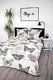 jilda-tex Bettwäsche 100% Baumwolle Design 135x200 cm mit Reißverschluss Bettbezug Bettgarnitur Verschiedene Designs (Vintage Rose)