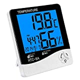 Velkro NEW Amazing HTC-8A Luminous Temperature Big Display and Humidity meter Clock For Home & Travel