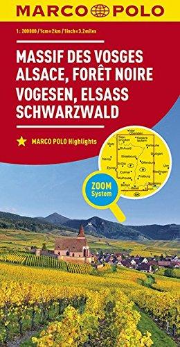 MARCO POLO Karte Frankreich Vogesen, Elsass, Schwarzwald 1:200 000: Wegenkaart 1:200 000 (MARCO POLO Karten 1:200.000)