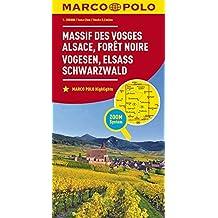 MARCO POLO Karte Frankreich Vogesen, Elsass, Schwarzwald 1:200 000 (MARCO POLO Karten 1:200.000)
