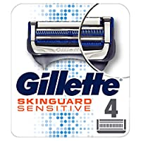 Gillette SkinGuard Men's Razor Blades For Sensitive Skin, 4 blade Refills