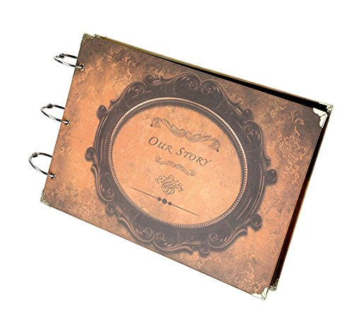 Xiujuan Scrapbook Our Story Vintage Refillable Photo Album Black