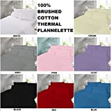 100% Brushed Cotton Flannelette Flat Sheet in All Sizes Or Pillow Pair