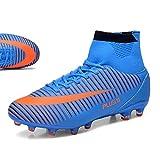 Chaussures de Football Homme High Top Adulte Professionnel Chaussure de Foot Athlétisme Entrainement Chaussures de Sport(EU 39-45)
