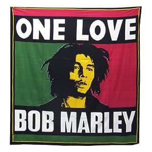Bob Marley Lit propagation–Rasta couleur Plaid–Couverture 100% coton