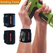 Magnetische Armbänder, Magnetarmband Mit 5 Starken Magneten, Schrauben,  Nägel, Dübel, Bohrungen