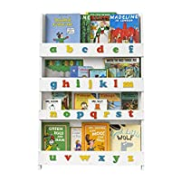Tidy Books® - Childrens Bookcase | Bookshelf with 3D Colour Alphabet | Kids Books Storage - Wood - 115 x 77 x 7 cm | ECO Friendly | Handmade - The Original Since 2004