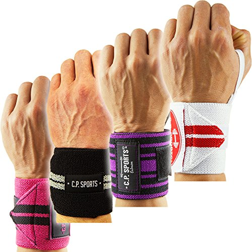 Handgelenkbandage / Bänder / Bandagen Bodybuilding, C.P. Sports, Fitness, Krafttraining Wrist Wraps, Handgelenk (Lila-Schwarz)