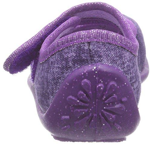 Fischer Klett Mädchen Flache Hausschuhe Violett (561 lila)