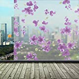 #9: Lepakshi 60*200Cm Removable PVC Back Glue Frosted Opaque Window Film Waterproof Adhesive Flower Privacy Glass Sticker for Home Decoration