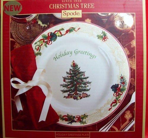 Spode Christmas Tree China Holiday Greetings Plate by Spode Spode China Christmas Tree