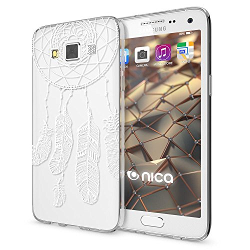 delightable24 Cover Case in Silicone TPU per Smartphone SAMSUNG GALAXY A5 (2015) - Feathers